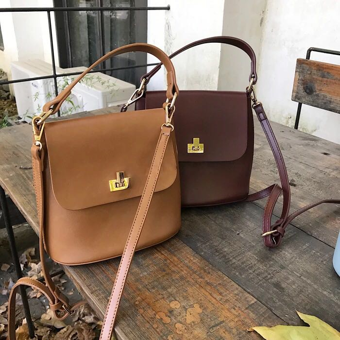 3910579b34 Korean style retro elegant simple Bucket women sling bag
