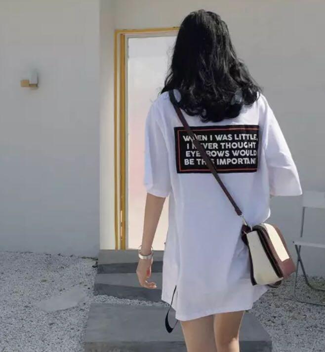 efced9b277ab82 Korean Ulzzang Oversized T-shirt Dress