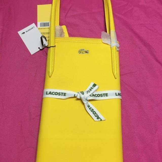 93f1c318f457b9 ... Handbags online shop 963bc 192d5  Lacoste Tote (Cyber Yellow)  Horizontal