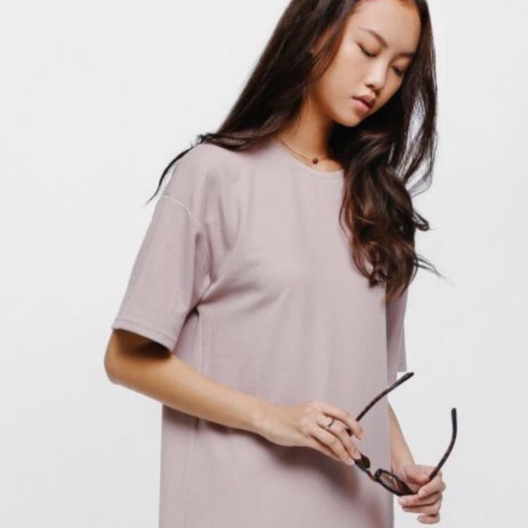 d3243dbbaf4d Love Bonito LB Oversized T Shirt Dress in Dusty Pink - Super Comfy ...