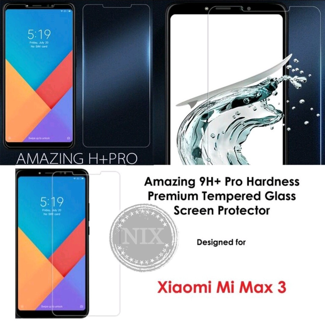 Mi Max3 Tempered Glass Screen Protector, Mobile Phones & Tablets, Mobile & Tablet Accessories, Mobile Accessories on Carousell