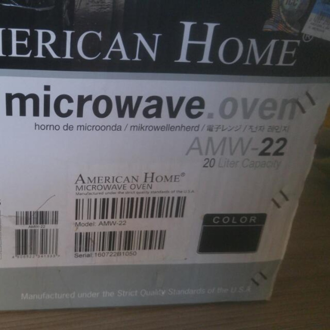 Brand New Microwave Oven American Home Amw 22 20liter Gray Kitchen Liances On Carou