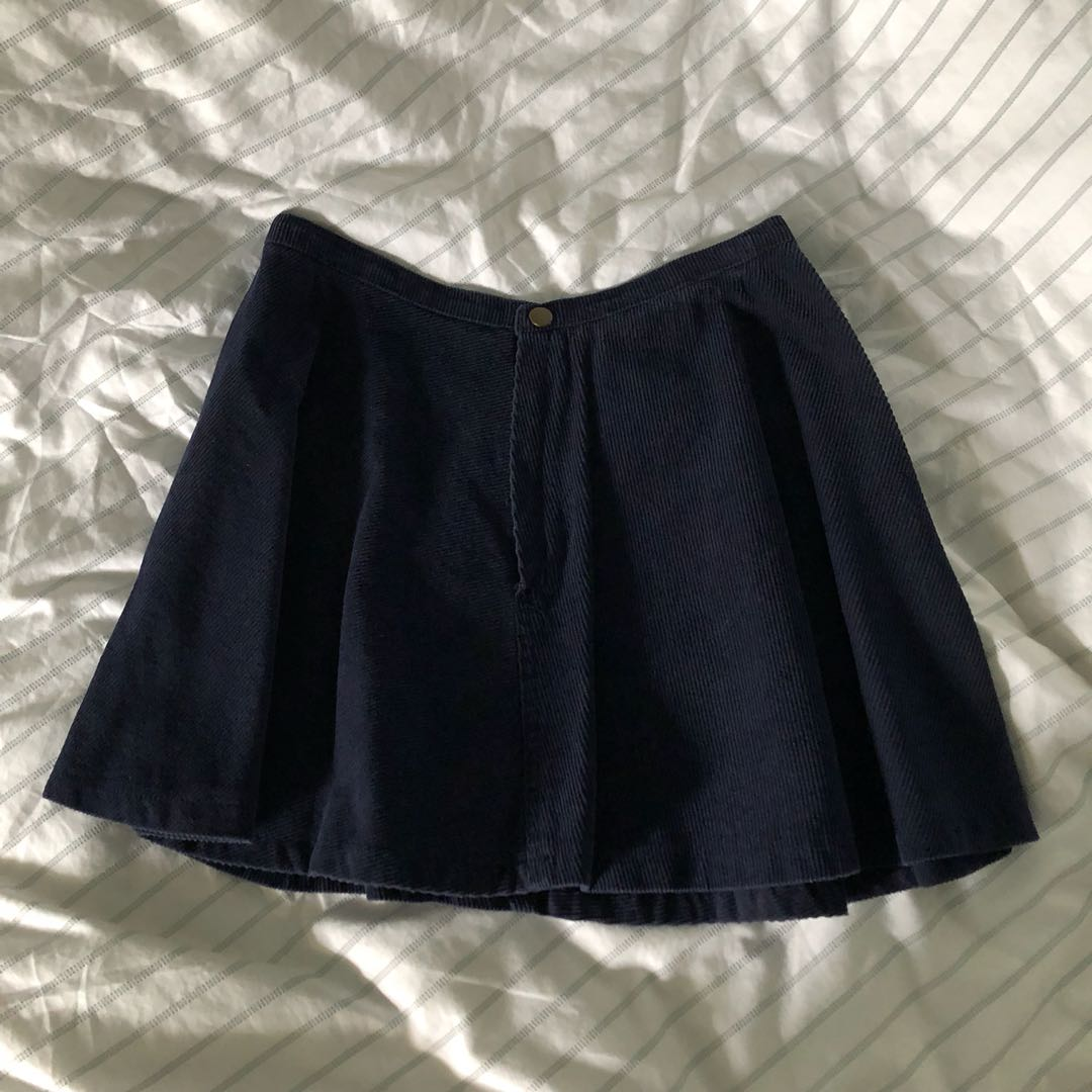 34ca569bac67 Navy corduroy skirt