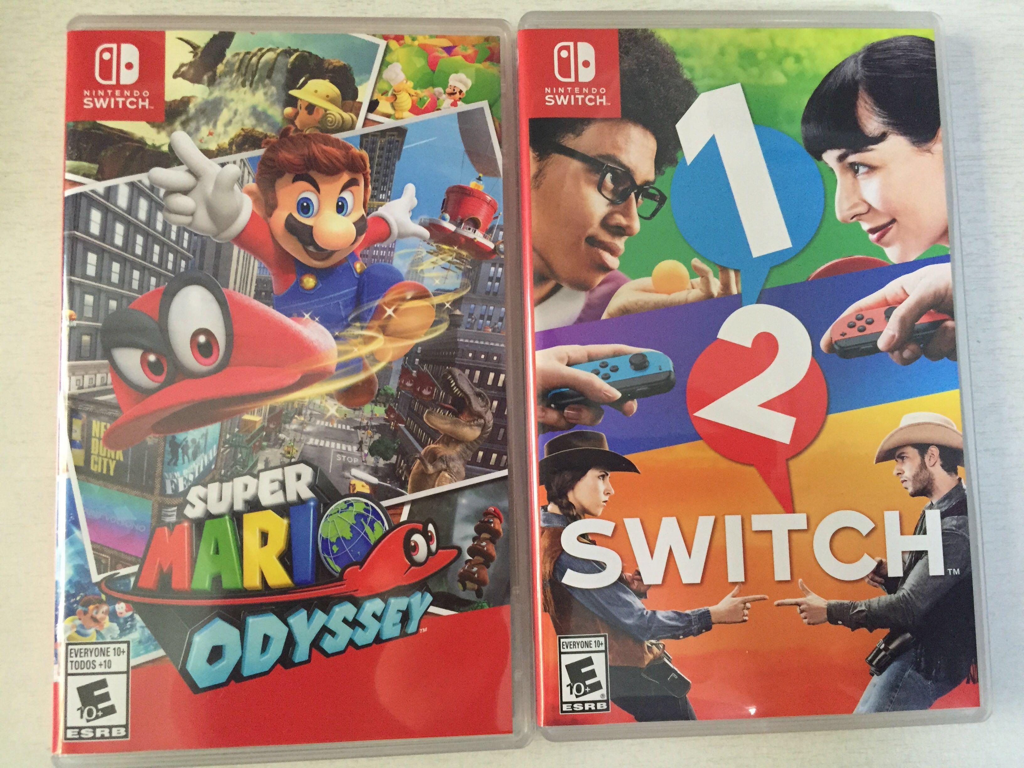 Nintendo Switch- Mario Odyssey & Switch 1-2 bundle