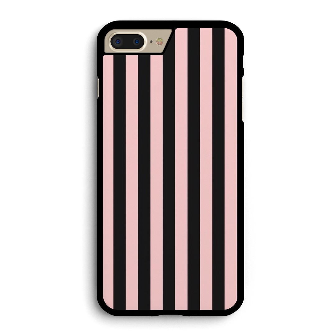 newest dc6bb b9023 Pink and black striped Phone case