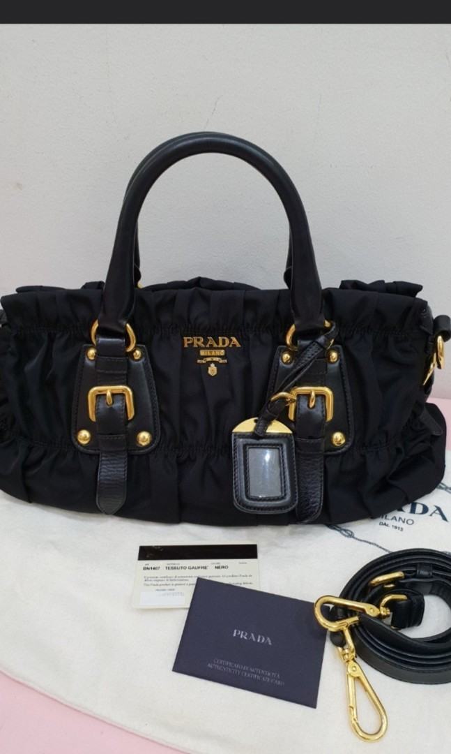 68ad388d85a7 ... sweden prada tessuto gaufre top handle bag bn1407 luxury bags wallets  sling bags on carousell 2cafa