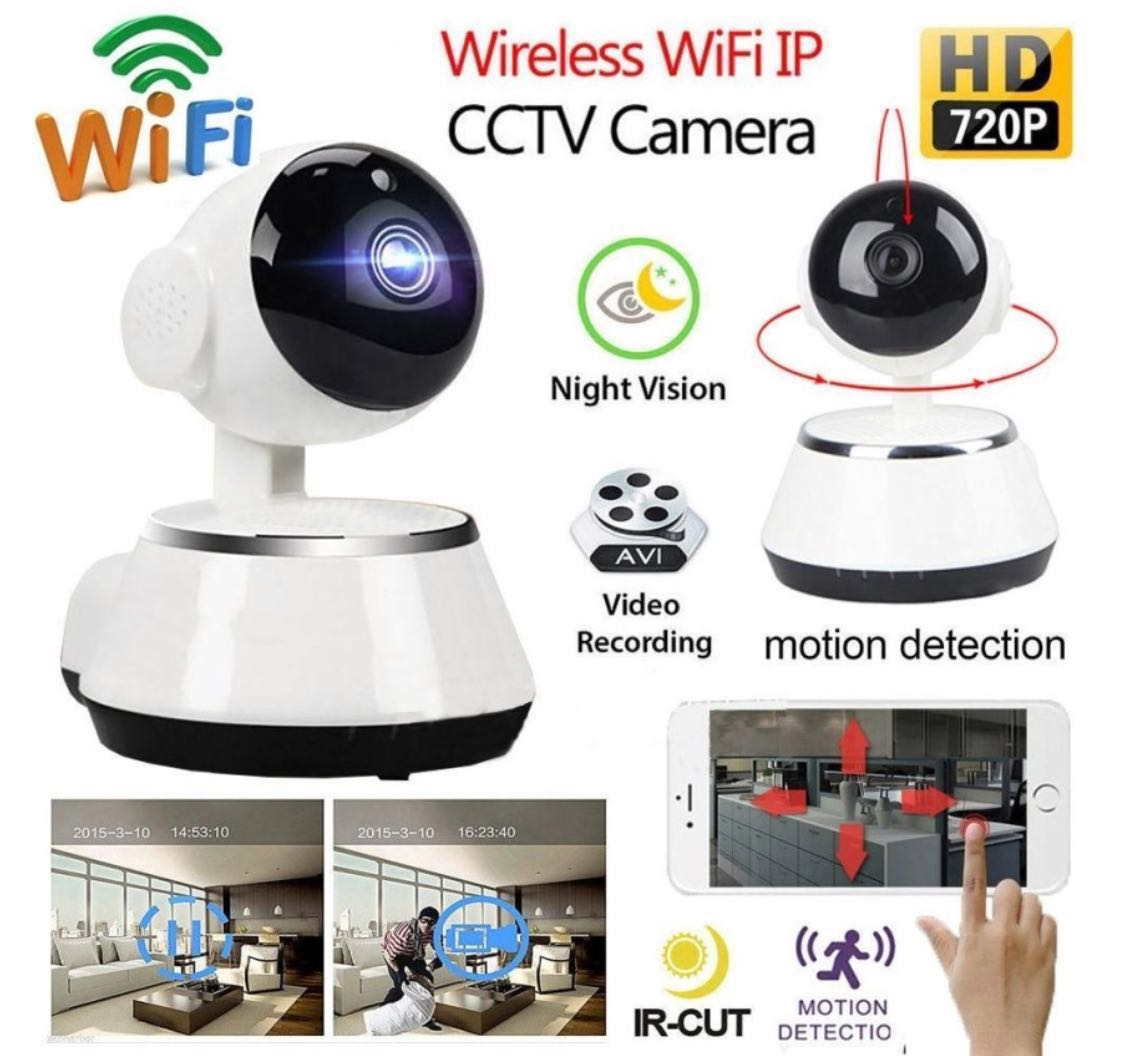(Ready Stock) Wifi IP Cctv Camera Link to Phone App - Mini, Auto Continuous  Loop Recording, Night Vision, Motion Detection