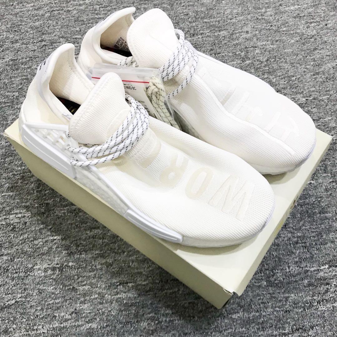 a31229aca5b20 US8 Adidas NMD Pharrell Williams Human Race White Cream