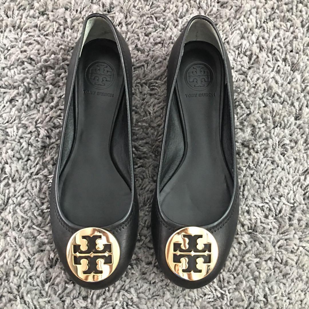 bffcc953a US8 Tory Burch Reva Ballet Flats (Black Gold)