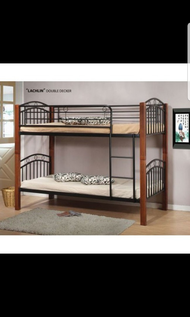 Wooden And Metal Bunk Bed Double Decker Furniture Beds