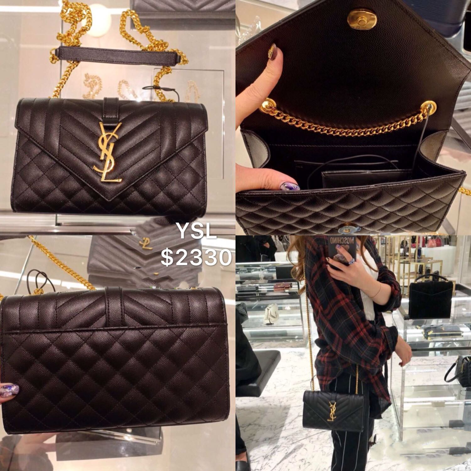 c7301a40297f Ysl envelope, Luxury, Bags & Wallets, Handbags on Carousell