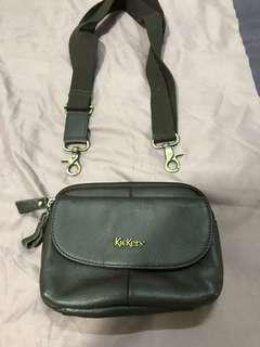 Kickers leather waist pouch large