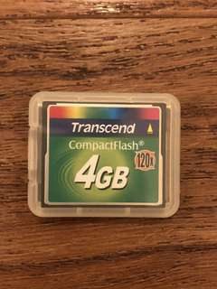 Transcend 4GB CF card compact flash