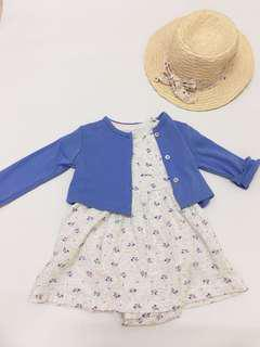 (New)Authentic Carter's Baby Girl Dress Set