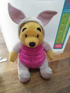 WINNIE THE POOH IN PIGLET COSTUME STUFFED TOY