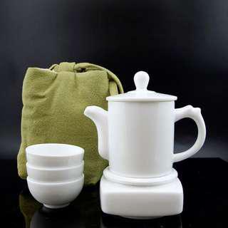 Porcelain Tea Ceremony Travel Set of 7 #GOGOVAN50