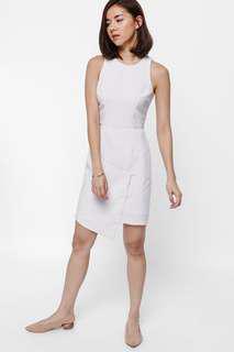 Love Bonito: Greste Pinstriped Asymmetrical Dress (XS)