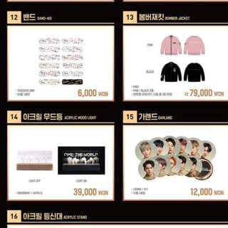 Wanna One  One:The World Concert Official Goods