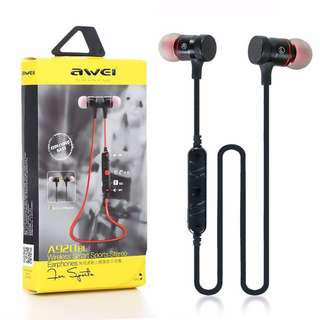 🚚 Awei A920BL In-ear Wireless Sports Earphone Bluetooth 4.1 Connection with Voice Noise Reduction Mic for Running