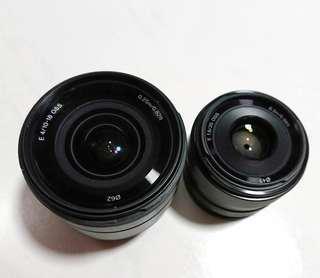 Sony E-mount Lenses 10-18mm & 35mm