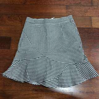 Gingham Flare Mini Skirt