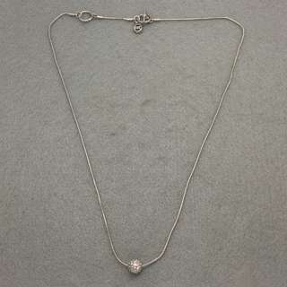 Michael Kors Sample Necklace 銀色閃石波波頸鏈