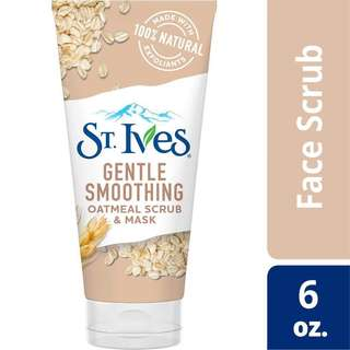 ST. Ives gentle smoothing oatmeal scrub & mask / st ives oatmeal scrub / st ives gentle smoothing oatmeal scrub / face wash st ives