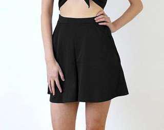 Black Short Culottes