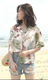 (PO) V neck buttoned shirt