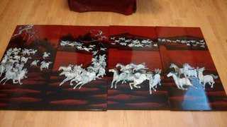 4 panel decorative artwork