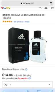 Adidas Ice Dive Eau de Toilette 100 ML(best for after sports)