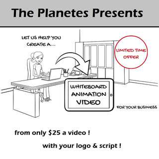 Whiteboard Animation Video - Let us create one for you! (LIMITED TIME OFFER)
