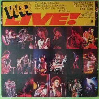 """【舊版""""Funk / Soul""""黑膠唱片】War ~ Live (1973 Japan)(2LP)"""
