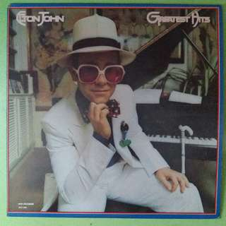 "【舊版""Rock""黑膠唱片】Elton John ~ Greatest Hits (1980 US)"