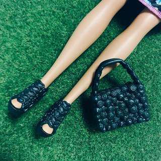 🚚 芭比娃娃 時尚達人 高根鞋+包包 配件 barbie|Janet Style