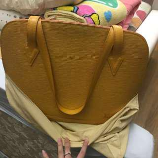 Good Deal! Lv Lussac Vintage Epi Yellow Bag Authentic
