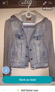 barely used AE jean jacket