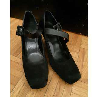 Franco Sarto black hybrid heels