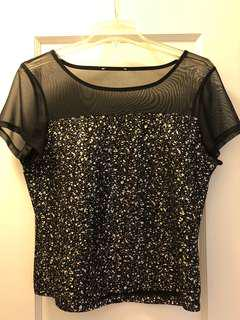 Black and gold shirt