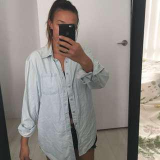 oversized denim long sleeve