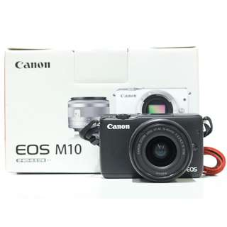 Canon EOS M10 with 15-45mm Kit Lens (Free Extra 1 battery) (Canon Malaysia Warranty until 19/08/2020)