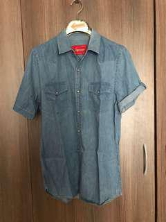 Topman Chambray Polo