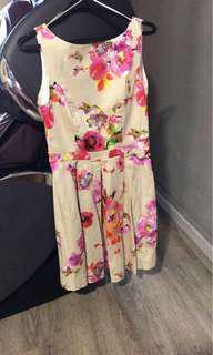 Atmosphere summer floral exposed back dress