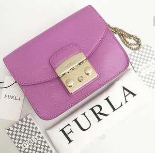 Authentic Furla Metropolis in Purple