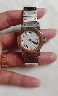 Cartier octagon, in good condition sign of usage but well maintand