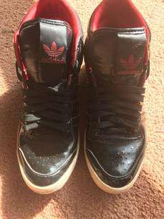 Black adidas Hightop sleek edition