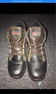 Rossi steel-cap leather boots