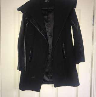 Bardot Junior size 16 (ladies size 6) Raven Black Coat