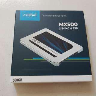 """BN Crucial 500gb SSD MX500 2.5"""" 7MM sealed"""
