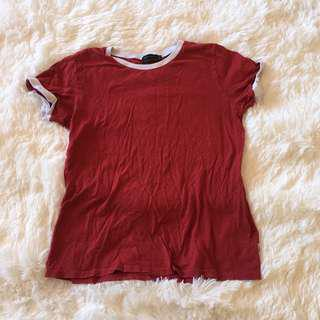 Afends red tee shirt